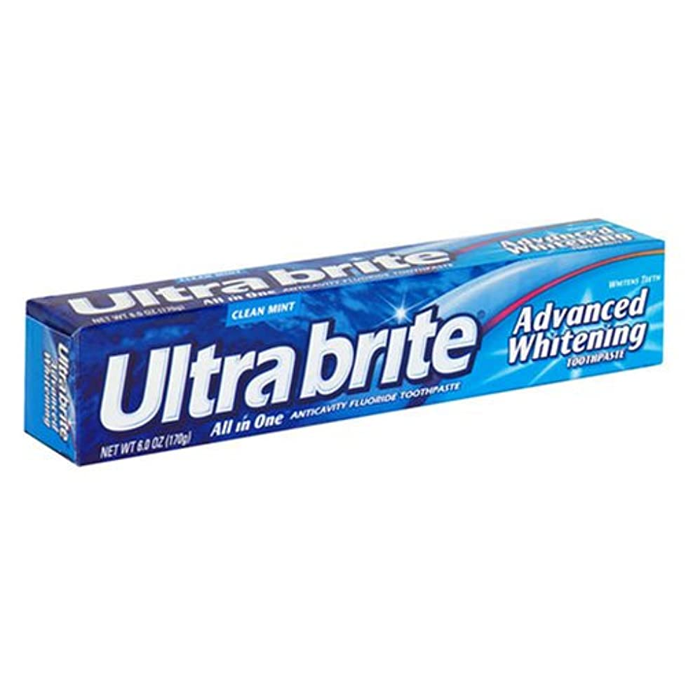 暖かく同僚キャラバン海外直送肘 Colgate Ultra Brite Advanced Whitening Fluoride Toothpaste, 6 oz