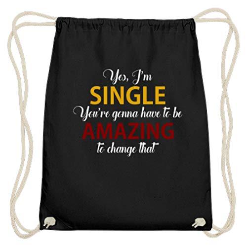 Yes I am single. Grappige partygroep motief - eenvoudig en grappig design - katoenen gymzak
