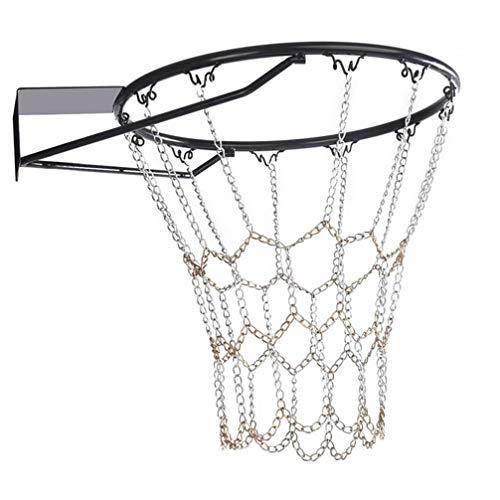 BESPORTBLE Basketbal Net Pocket Draagbare Vervangende IJzeren Ketting Binnen Buiten Basketbal Net Sporting Goods