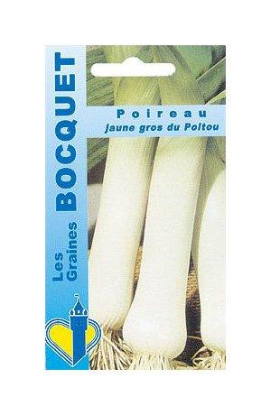 Les Graines Bocquet - Graines De Poireau Jaune Gros Du Poitou - Graines Potagères À Semer - Sachet De 4Grammes