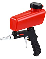 ENJOHOS Sandblasting máquina de chorro de arena portátil/pistola de chorro de arena para arena de acero/cuentas de vidrio/mantenimiento automotriz para óxido/pintura/aceite (Enchufe europeo)