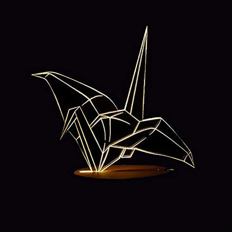Mozhate 7 Farben ndern Led Büro Nachtlichter Decor 3D Papier Kran Modellierung Tischlampe Atmosphren Touch Wohnzimmer Beleuchtung Geschenke,Remote und berühren