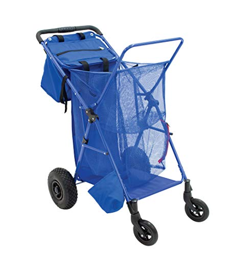 Rio Beach Wonder Wheeler Push Button Fold Beach Cart