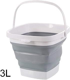 Seau pliable Seau pliable pliable pliable baignoire carré pliable baquette de pêche portable à l'extérieur pour laver, cam...