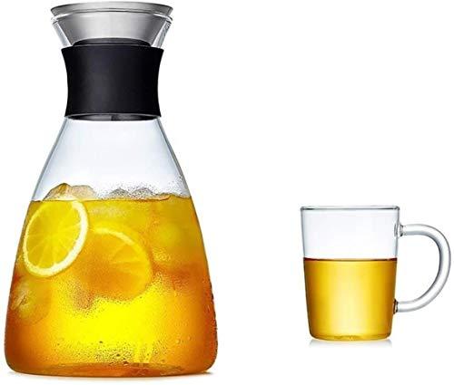 Tetera Pitcher tetera Taza 1800 ml tetera de cristal de la taza reutilizable de hielo vaso de agua es muy adecuado for jugo de café con el vino caliente y frío de la leche caliente del café for dar es