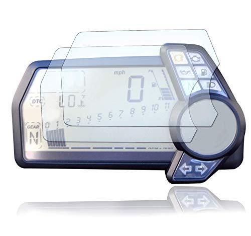[2 Stück] Displayschutzfolie Tacho Schutzfolie geeignet für Ducati Multistrada 1200 2010+ Panzerglas