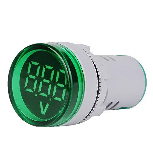 JJBHD Electronic Accessoires & Supplies 10pcs Grün ST16VD 22mm Lochgröße 6-100 VDC Digital Voltmeter Rundspannungsprüfer Tester Mini-LED-Spannungsanzeige-Signal-Licht-Monitor Um Ihnen die Qualität der