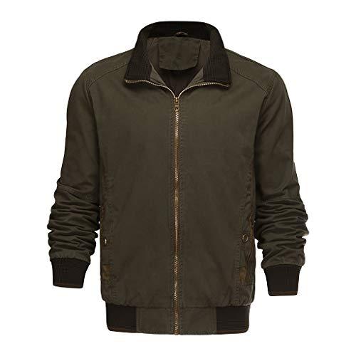 serliyWinter Mantel Mode für Männer Leichte Jacke Mäntel mit Stehkragen Outdoor Winddichte...