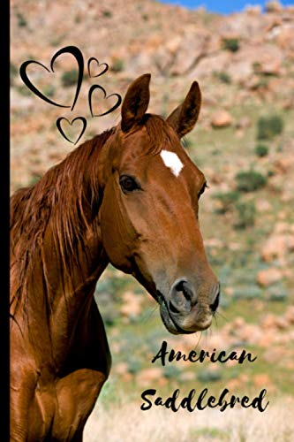 American Saddlebred Horse Notebook For Horse Lovers: Composition Notebook 6x9' Blank Lined Journal