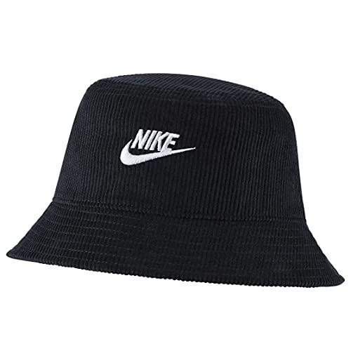 NIKE ナイキ コーデュロイ バケット ハット 帽子 メンズ レディース DC3965 HAT スポーツ キャップ (ブラック, M/L)