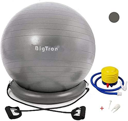 BigTron Yoga Ball Chair 65cm Stability Exercise Ball with Base and Resistance Bands Anti burst product image
