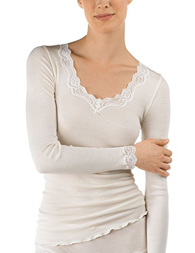 CALIDA Damen Richesse Lace Unterhemd, Beige (Cream White 892), 38 (Herstellergröße: XS=36/38)
