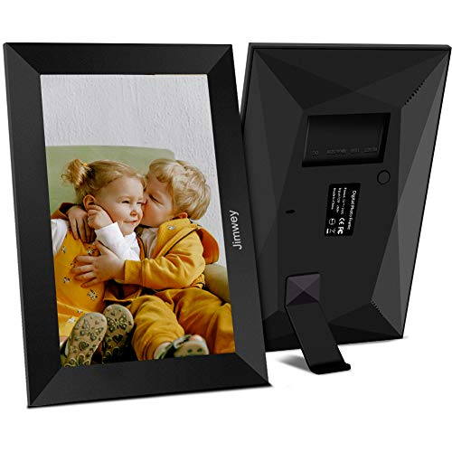 Jimwey 10 Inch 16GB WiFi Digital Picture Frame, Share Photos & Small Videos from Anywhere via App, 1080P IPS Touch Screen HD Display Smart Electronic Picture Frame, Share Moments Instantly