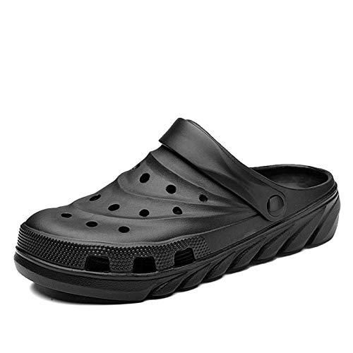 N-B Sandalias de Hombre Crocks Zapatos con Agujeros de Verano Crok Zuecos de Goma EVA Zapatos de jardín Unisex Negro Crocse Beach Sandalias Planas para Hombre Zapatillas