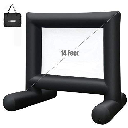 屋外プロジェクタースクリーン、映画のパーティーのための16フィートのインフレータブルプロジェクタースクリーンキャンバスプロジェクションスクリーンプール芝生イベントプロジェクタースクリーン LKWK