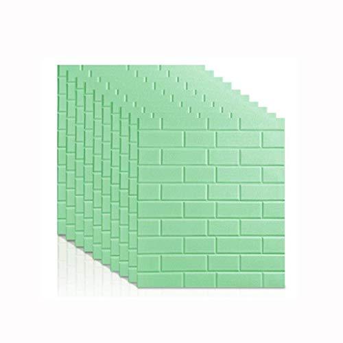 XJLG 3D behang muur papier 3D baksteen muur sticker Zelfklevend behang DIY verwijderbaar geel behang, geluiddichte zelfklevend behang TV muur 70 * 77CM baksteen behang