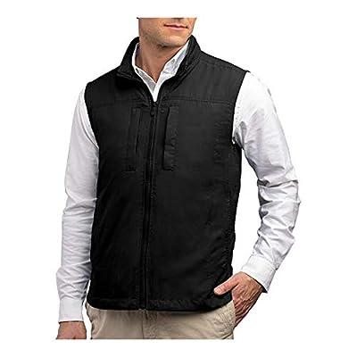 SCOTTeVEST Featherweight Men - Lightweight Vest - Travel - Utility - Safari Vest (BLK L) by