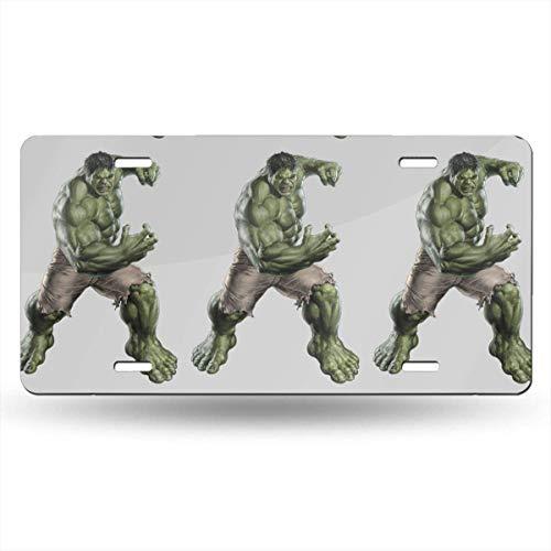 Suzanne Betty Placa de matrícula de aluminio – Hulk placa de matrícula accesorios para coche, 30,5 x 15,2 cm