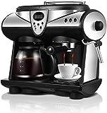 OGUAN Máquina de café, Cafetera Inteligente, 2 Sabores Espresso Doble Bombas y Calderas Filtro de café,