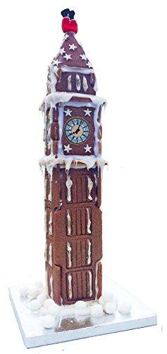 Papá Noel atrapado en Big Ben Chocolate Biscuit Juego de casa grande