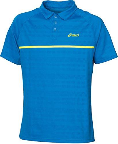 ASICS - Tennis-Poloshirts für Herren in surf blue, Größe L