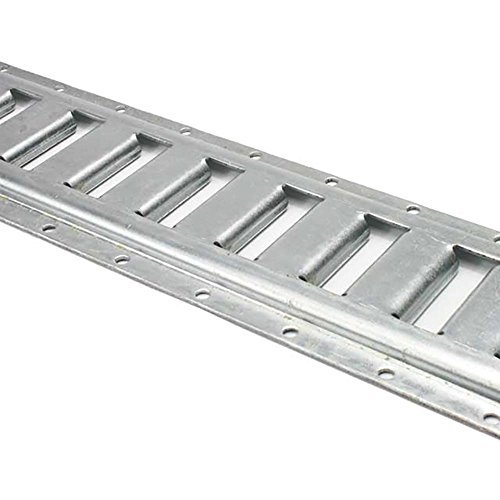 US Cargo Control Horizontal E Track - 8 Foot Length Cargo E Track - Galvanized Finish - 12 Gauge Steel - Easily Secure Cargo in an Enclosed Van Trailer