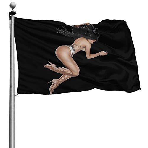 Home Garden Flag,Nicki Minaj Garden Flag Stilvolle Gartenflaggen Für Den Garten Willkommensdekor,90CMx150CM