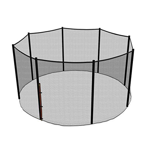 Ampel 24 Ersatz Sicherheitsnetz für Trampolin Ø 366 cm, Gartentrampolin Ersatznetz für 8 Stangen, Netz außenliegend, Ersatzteil reißfest, UV-beständig