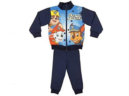 Kleines Kleid Jungen Sport-Anzug Trainingsanzug Jogginganzug, Sweat-Jacke mit Langer Hose, GRÖSSE 110, 116, 122, 128 100% Baumwolle Freizeit-Anzug Paw Petrol Größe 116