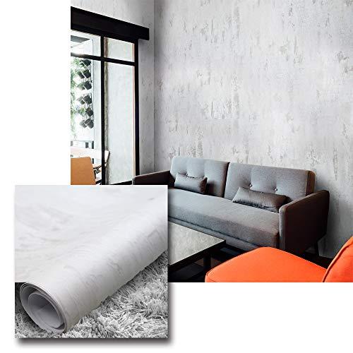 Urban Décor Modern Wallpaper, Vinyl Peel-and-Stick Wall Décor (2' x 8' (2pcs, 32 sqft), Vintage Metal (White))