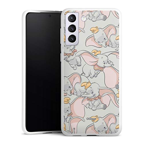 Silikon Hülle kompatibel mit Samsung Galaxy S21 Plus 5G Case weiß Handyhülle Elefant Dumbo Disney