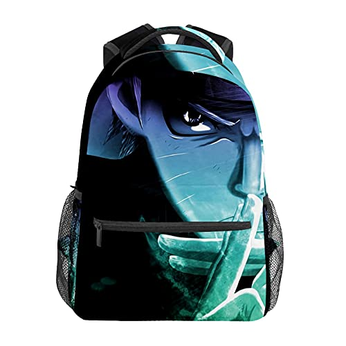 Naruto55 Mochila de animación japonesa para portátil bolsa de viaje duradera mochila impermeable para estudiantes; mochila de moda fresca