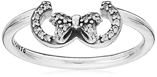PANDORA Disney Minnie Silhouette 925 Sterling Silver Ring, Size: EUR-60, US-9-197509CZ-60