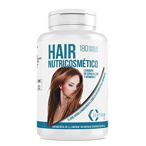 Integratore alimentare di zinco, lievito di birra e vitamina E per aiutare a prevenire la caduta dei capelli - Integratore vitaminico per rafforzare i capelli - 180 capsule vegetali