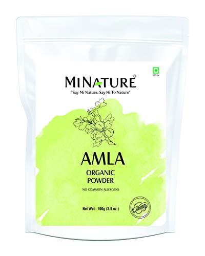 USDA Organic Amla Powder (Amla Fruit Powder) by mi Nature| Amalaki | 100g (3.5 oz) | High in Vitamin C, antioxidants, Energy Booster | Hair Growth | Raw,Vegan,Gluten Free R