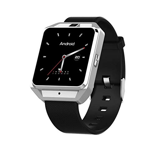KTH Volle Netcom 4G Internet Android M5 Smart Uhr WiFi Bluetooth Herzfrequenz Multifunktionsanruf GPS-Navigationsuhr (Color : Silber)