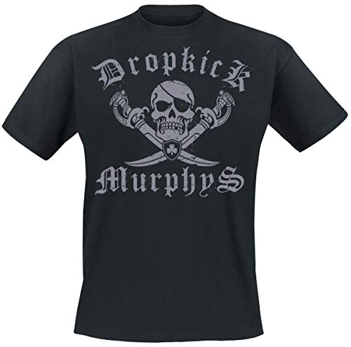Dropkick Murphys Jolly Roger Männer T-Shirt schwarz M 100% Baumwolle Band-Merch, Bands