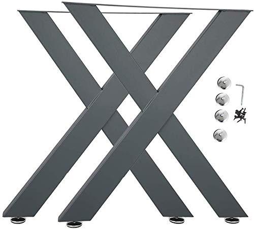 2 Stück Stahlbeine, Tischbeine aus Stahl, 2 STK Schwarz Tischgestell aus Stahl für Möbel Beistelltische, Sofatische, und Laptoptische