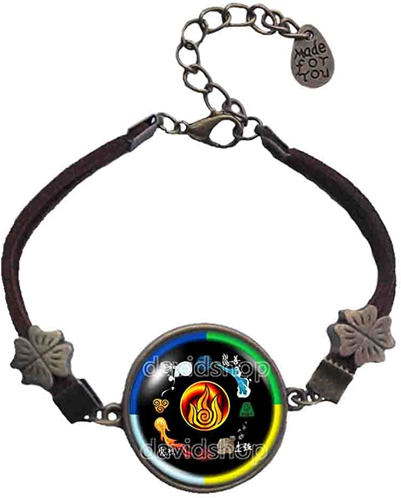 Handmade By Sichong Elements Fire Avatar the last Airbender Bracelet Legend of Korra Pendant Cosplay Colorful New