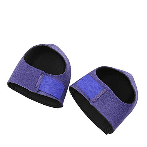 Huachaoxiang Sleeve Heel, Heel Cushion Gel Protection with Arch Foot Insert Pairs Better Than Night Splint Relieves Cranks And Spurs Ankle Support Healifty,Blue,2