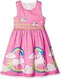 Vestido para niña Rosa Unicornio Arco Iris Verano Sol 9-10 años
