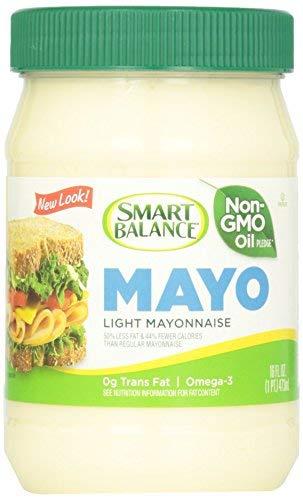 Smart Balance Light Mayonaise (Pack of 2) 16 oz Jars