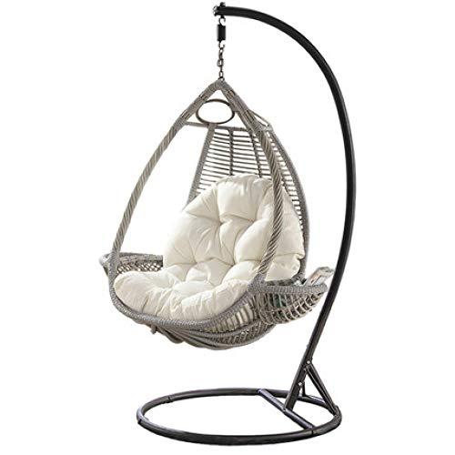 WNNEIYI Outdoor swing rattan chair cradle chair balcony indoor living room adult hammock rocking chair