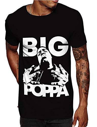 Swag Point Hip Hop T-Shirt -Biggie Graphic, Streetwear (L, AAO)