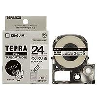 (まとめ) キングジム テプラ PRO テープカートリッジ インデックスラベル 24mm 白/黒文字 SSY24K 1個 【×4セット】 ds-1571448