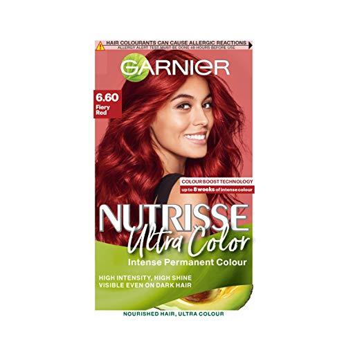 Garnier Nutrisse Ultra Color, Permanent Hair Dye, Intense Colour,...