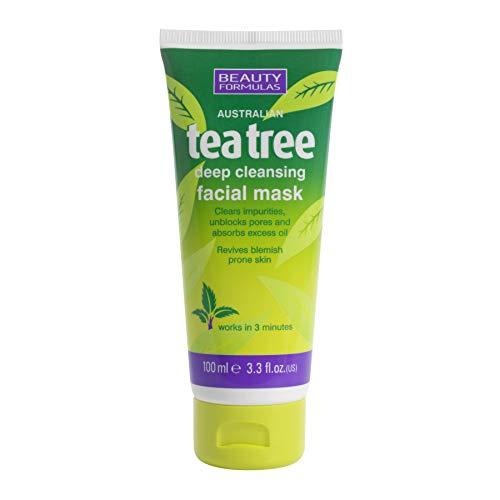 Beauty Formulas Tea Tree Deep Cleansing Facial Mask 100ml