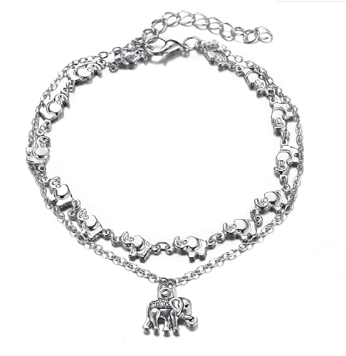 Silver Naturally Adjustable Anklet Jewelry Anklet Gifts for Women Teen Girls