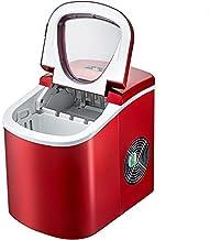 VEVOR Machine à Glaçons en Rouge Portable 12kg par 24H Mini Commercial Ice Maker avec LCD