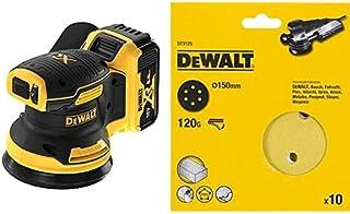 DEWALT 18V Cordless Brushless RO Sander - 2 x 4Ah Batteries & Chargers, DCW210P2-GB, 3 Year Warrnty + DeWalt 150 mm Sandin...